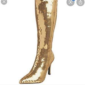 Funtasma gold sequin boots